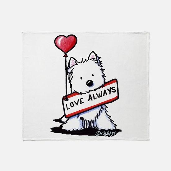 Love Always Westie Throw Blanket