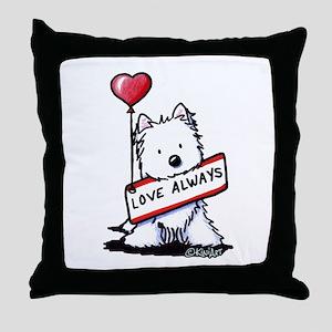 Love Always Westie Throw Pillow