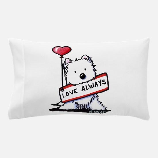 Love Always Westie Pillow Case