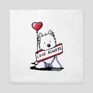Love Always Westie Queen Duvet