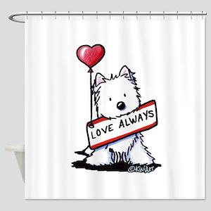 Love Always Westie Shower Curtain