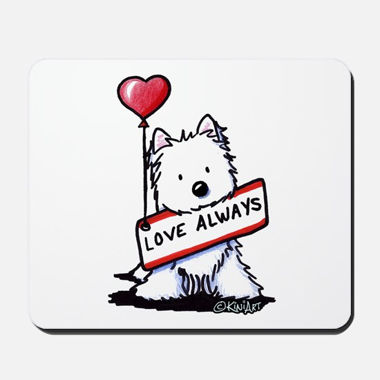 Love Always Westie Mousepad