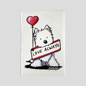 Love Always Westie Rectangle Magnet
