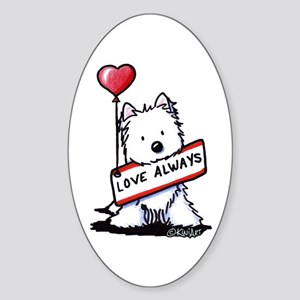 Love Always Westie Sticker (Oval)