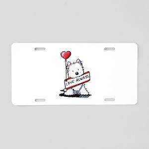 Love Always Westie Aluminum License Plate