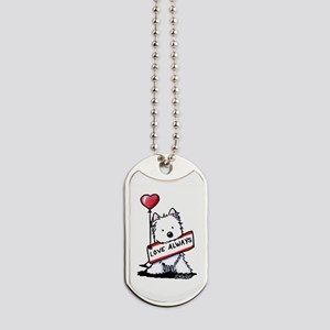 Love Always Westie Dog Tags
