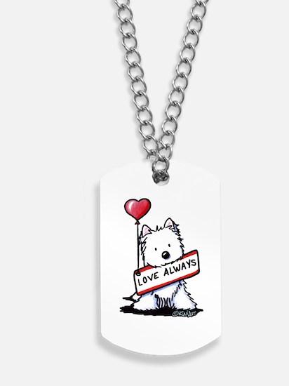 Love Always Westie Dog Tags