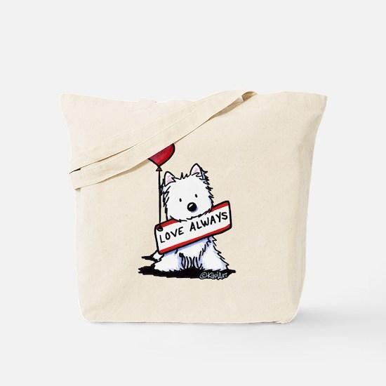 Love Always Westie Tote Bag