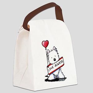 Love Always Westie Canvas Lunch Bag