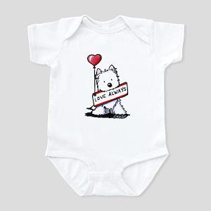 Love Always Westie Infant Bodysuit