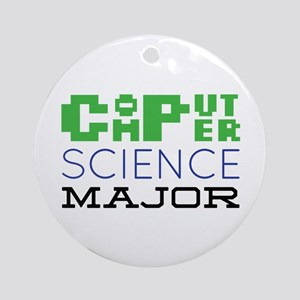 Computer Science Major Ornament (Round)