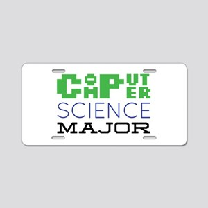 Computer Science Major Aluminum License Plate