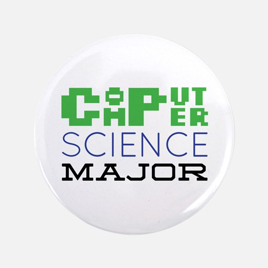 "Computer Science Major 3.5"" Button"