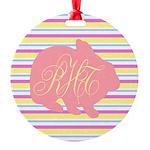 Personalizable Monogram Bunny Ornament