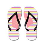 Personalizable Monogram Bunny Flip Flops