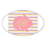 Personalizable Monogram Bunny Sticker