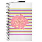 Personalizable Monogram Bunny Journal