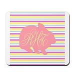 Personalizable Monogram Bunny Mousepad