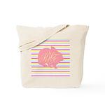 Personalizable Monogram Bunny Tote Bag