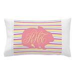 Personalizable Monogram Bunny Pillow Case