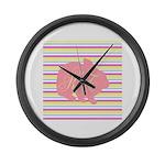 Personalizable Monogram Bunny Large Wall Clock