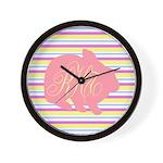 Personalizable Monogram Bunny Wall Clock