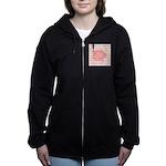 Personalizable Monogram Bunny Women's Zip Hoodie
