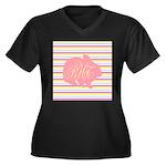 Personalizable Monogram Bunny Plus Size T-Shirt