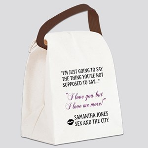 I LOVE ME MORE Canvas Lunch Bag