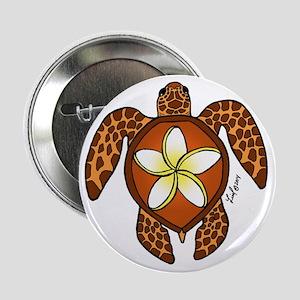 """Honu Plumeria 2.25"""" Button (10 Pack)"""