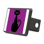 Black Cat on Purple Hitch Cover