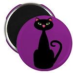 Black Cat on Purple Magnets