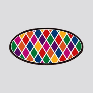 Colorful Harlequin Pattern Patches