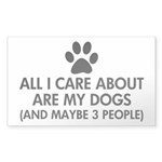 All I Care About Are My Sticker (Rectangle 10 pk)