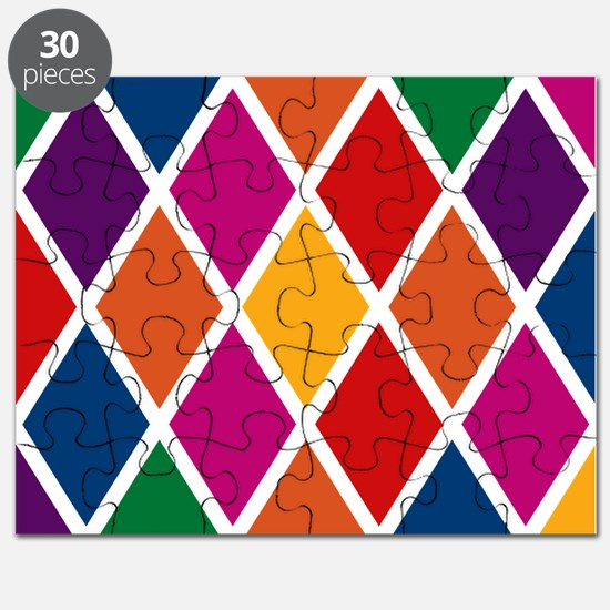 Colorful Harlequin Pattern Puzzle