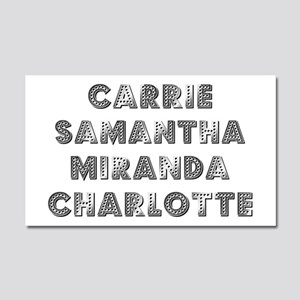 THE GIRLS Car Magnet 20 x 12