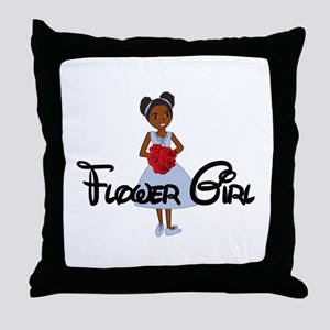 Tina's Flower Girl Throw Pillow