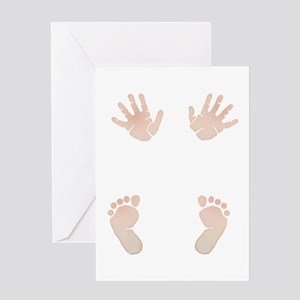 Baby_Hands_and_Feet_Maternity_Exc1 Greeting Cards