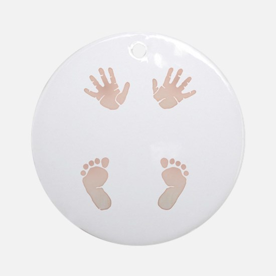 Baby_Hands_and_Feet_Maternity_Exc1 Ornament (Round