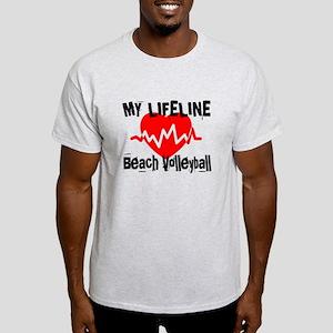 My Life Line Beach Volleyball Light T-Shirt