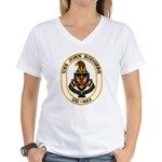 USS JOHN RODGERS Women's V-Neck T-Shirt