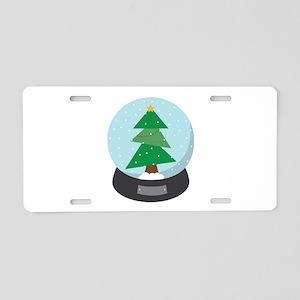Snowglobe Aluminum License Plate