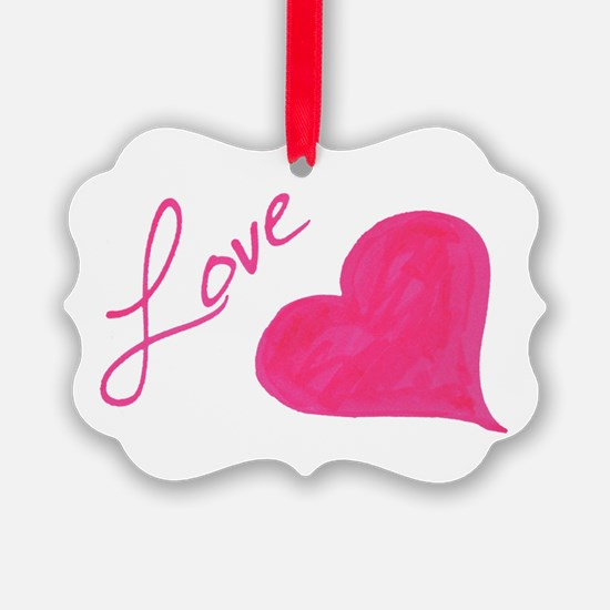 Love in Ink Ornament