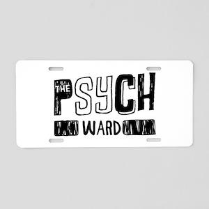 Psych Ward Aluminum License Plate
