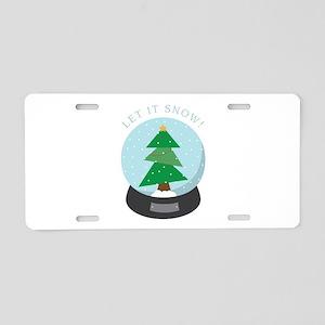 Let it snow ! Aluminum License Plate