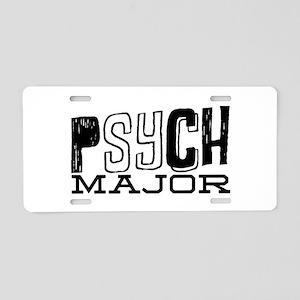 Psych Major Aluminum License Plate