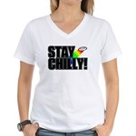 Stay Chilly! Women's V-Neck T-Shirt