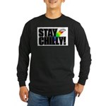 Stay Chilly! Long Sleeve Dark T-Shirt