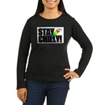 Stay Chilly! Women's Long Sleeve Dark T-Shirt