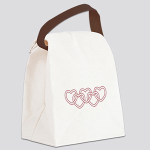 Entwined Hearts Canvas Lunch Bag